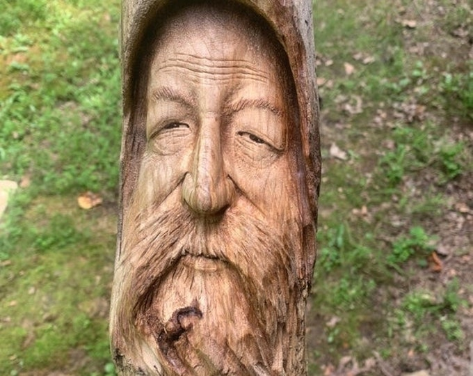 25% Off Sale Driftwood Carving, Wood Carving, Wood Wall Art, Hand Carved Wood Art, Wood Spirit Carving, by Josh Carte, Made in Ohio