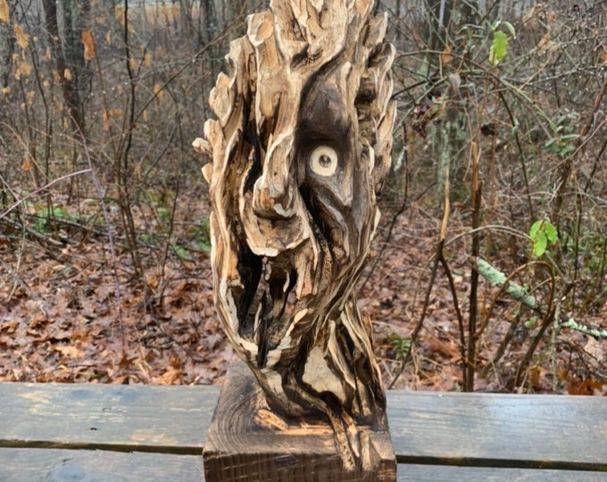 Wood Carving, Chainsaw Carving, Unique Wood Sculpture, Hand Carved Wood Art, by Josh Carte, Amazing Sculpture, Handmade Woodworking