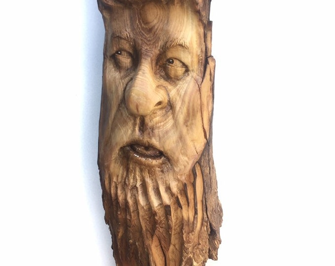 Wood Carving, Wood Spirit Carving, Chainsaw Carving, by Josh Carte, Made in Ohio, Hand Carved Wood Art