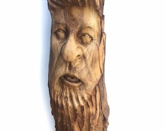 20% Off Sale Wood Carving, Wood Spirit Carving, Chainsaw Carving, by Josh Carte, Made in Ohio, Hand Carved Wood Art