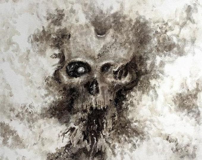 SALE New Year Original Oil Painting, by Josh Carte, Skulls, Macabre Art, Dark Art Painting, Hand Painted Art, Wall Art Painting, Original Ar
