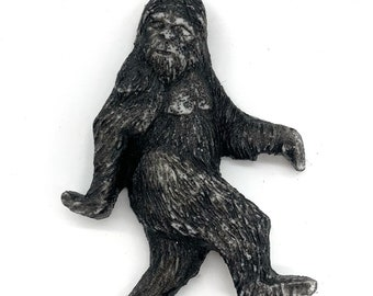 Bigfoot Necklace, Bigfoot Jewelry Pendant, Sasquatch Pendant, By Josh Carte, Carving of Bigfoot, Bigfoot Is Real