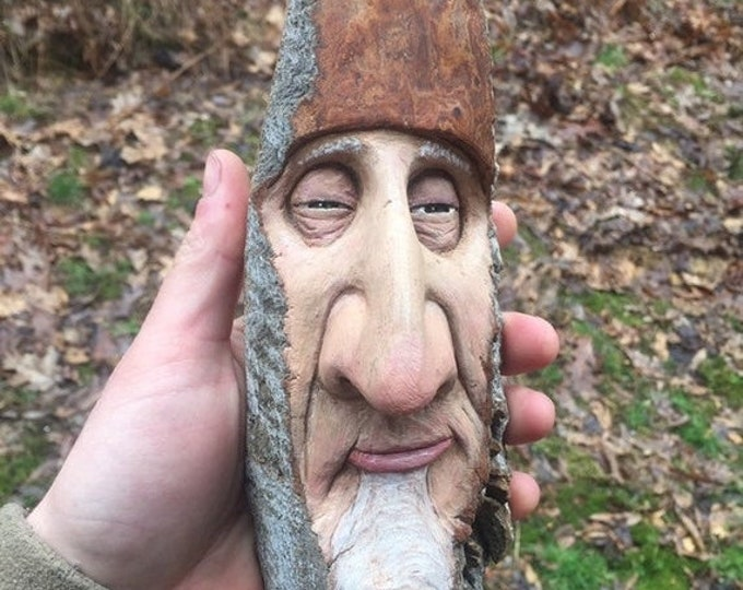 20% Off Sale Wood Carving, Carving of a Face, by Josh Carte, Made in Ohio, Hand Carved Wood Art, Unique Sculpture, Wood Wall Art