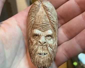 Bigfoot Face, Bigfoot Pendant, Bigfoot Jewelry, Sasquatch Necklace, Bigfoot Necklace, by Josh Carte, Made in Ohio