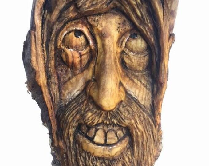 SUMMER SALE Wood Carving, Wood Spirit Carving, Wall Art Decor by Josh Carte, Handmade Woodworking, Wood Sculpture, Perfect Wood Gift, OOAK,
