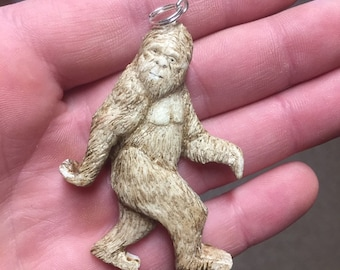 Bigfoot Pendant, Sasquatch Pendant, Yeti Necklace, by Josh Carte, Made in Ohio, Unique Sculpture