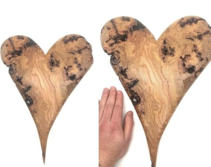 SALE New Year Wood Carving, Valentines Day, Heart carving, Heart Wood Gift, Hand Carved Wood Art, by Josh Carte, Love Carving, Heart Sculptu