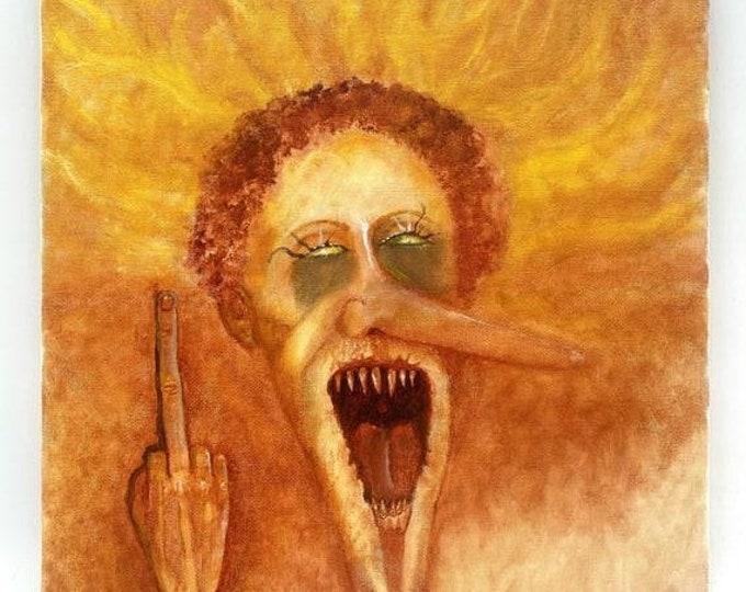 SALE New Year Oil Painting, 2020, Wall Art Painting, Original Art by Josh Carte, Dark Art, Macabre Art, Creepy Painting, Hand Painted Art, O