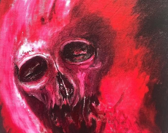 Skull Art Print, Wall Art Decor of a Skull, Dark Art Print, Macabre Art Print, by Josh Carte, Print of Oil Painting, Evil Art Print