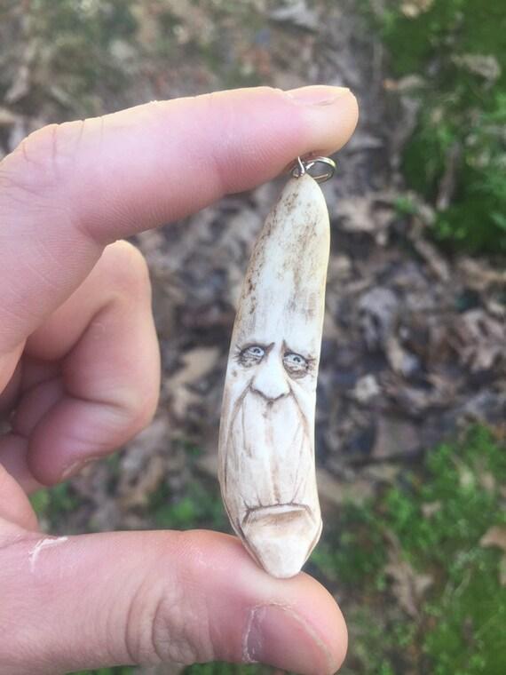 Bone Pendant Bone Carving Hand Carved Art Bone Jewelry Etsy
