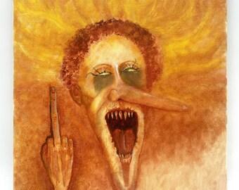 Oil Painting, 2020, Wall Art Painting, Original Art by Josh Carte, Dark Art, Macabre Art, Creepy Painting, Hand Painted Art, OOAK