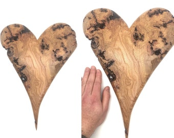 Wood Carving, Valentines Day, Heart carving, Heart Wood Gift, Hand Carved Wood Art, by Josh Carte, Love Carving, Heart Sculpture, Made Ohio
