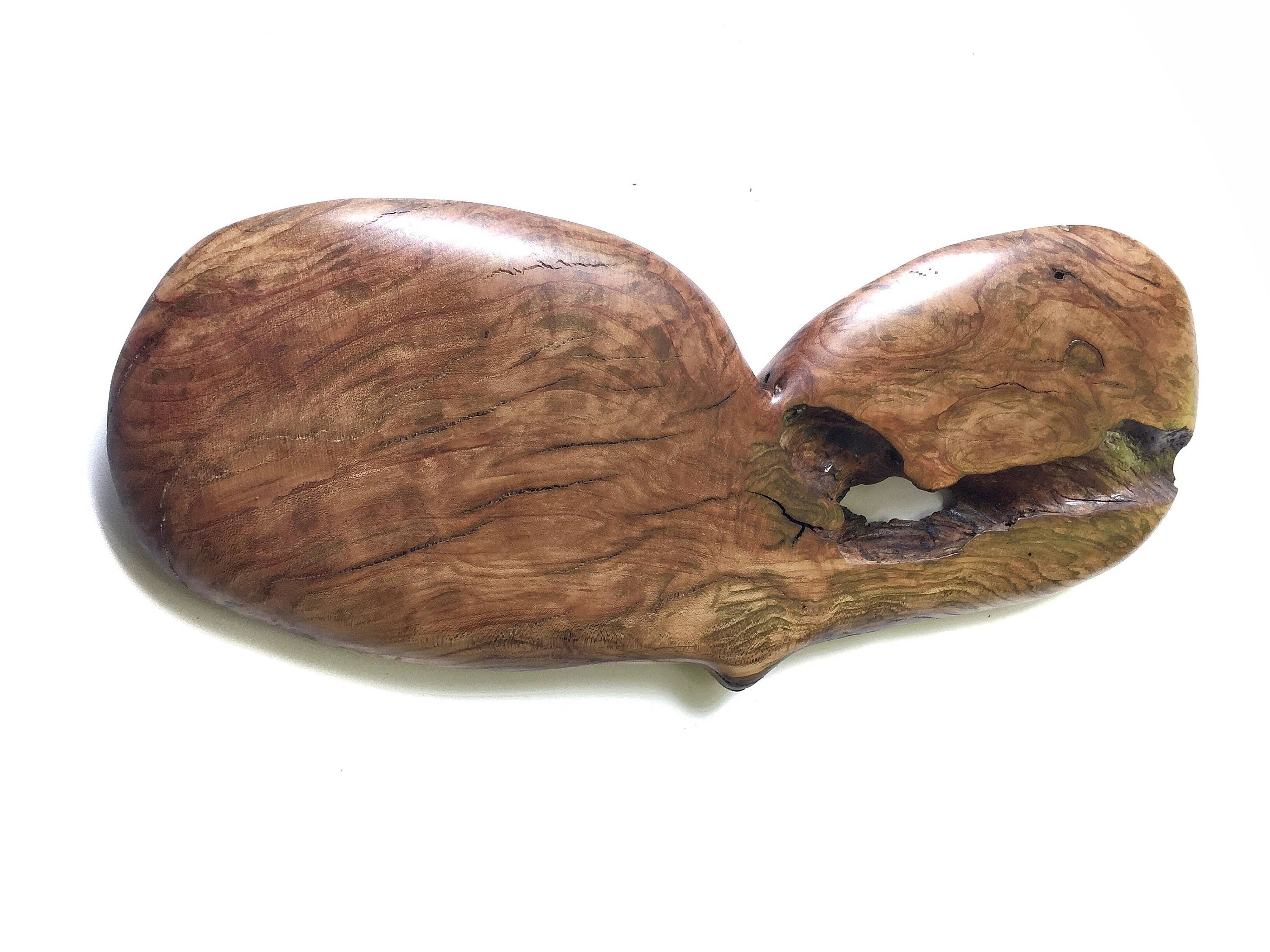 Heart Wood Carving Anniversary Gift Personalized 5th