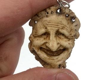 Miniature Bone Carving, Hand Carved Antler, Sika Deer Antler, Bone Necklace Carving, Antler Pendant, by Josh Carte, Deer Antler Art