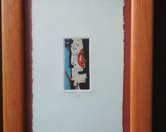 Print, etching, aquatint, original / Zelja - Wish