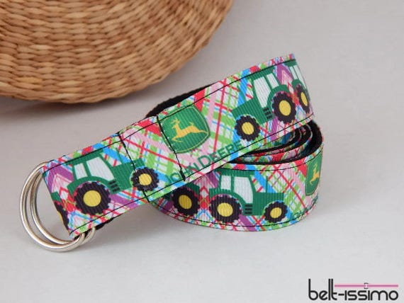 Pink shape belt for children hook and loop adjustable handmade toddlers belt