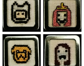 Set of 4 magnets Adventure Time