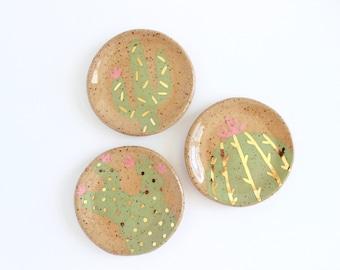 Cactus Ring Dish, Ceramic Saguaro Cactus Decor, Ceramic Ring Holder, Cactus Gifts, Clay Trinket Dish, Nightstand Organizer, Jewelry Holder