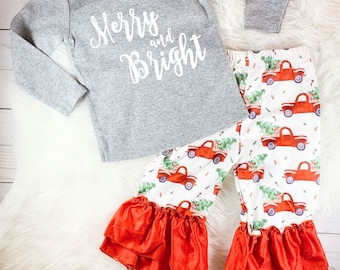 8273429fc7d3 Personalized Christmas Outfit Girls Christmas Leggings Baby Girl Christmas  Outfit Infant Christmas Outfit Toddler Christmas Outfit
