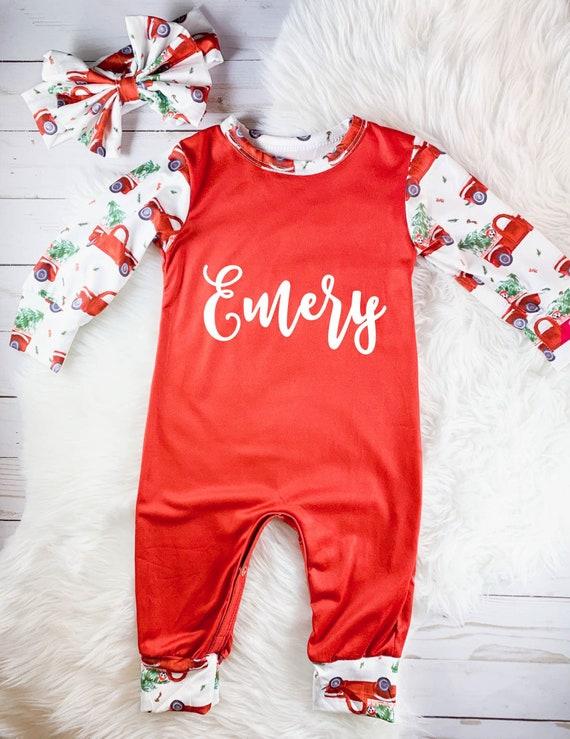 Toddler Christmas Outfit Girl.Personalized Christmas Pajamas Baby Girl Christmas Outfit Girls Christmas Pajamas Toddler Christmas Pajamas Baby First Christmas Pajamas
