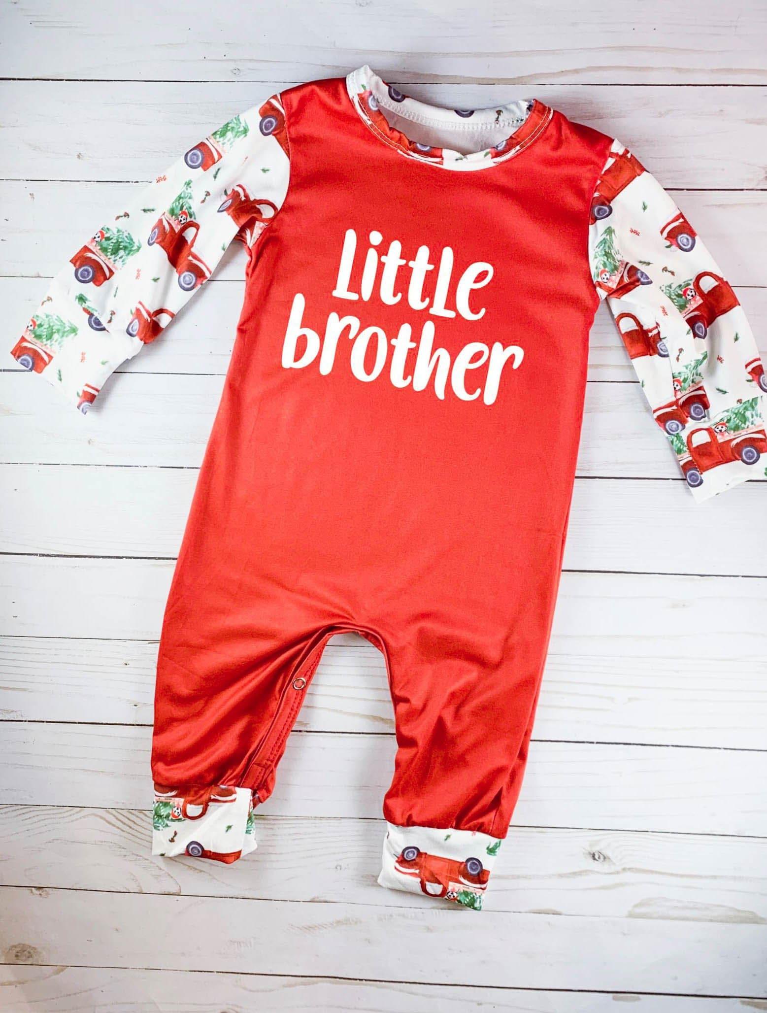 c683f24d5641a Bébé garçon Noël tenue bébé premier Noël petite frère tenue
