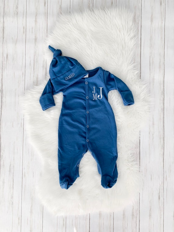 Layette Gown Baby Boy Clothes Baby Shower Gift Newborn Boy Coming Home Outfit Baby Take Home Outfit Newborn Sleeper