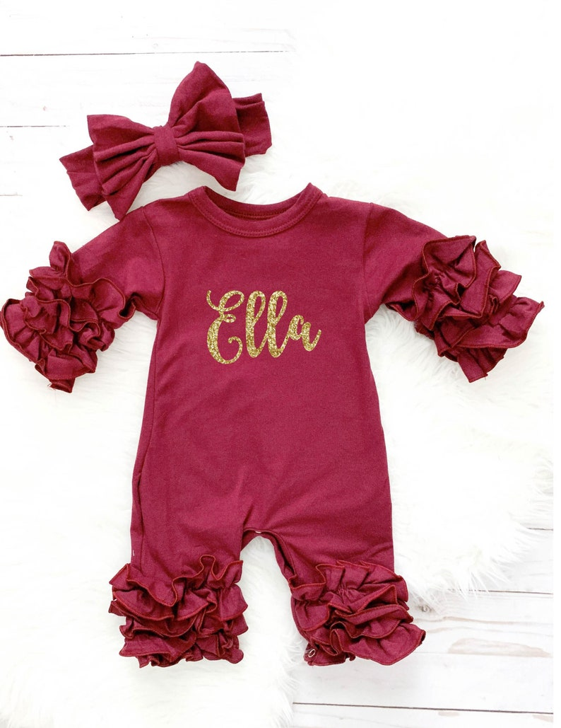 97c9f6bb695d Personalized Newborn Girl Coming Home Outfit Girl Gown Baby