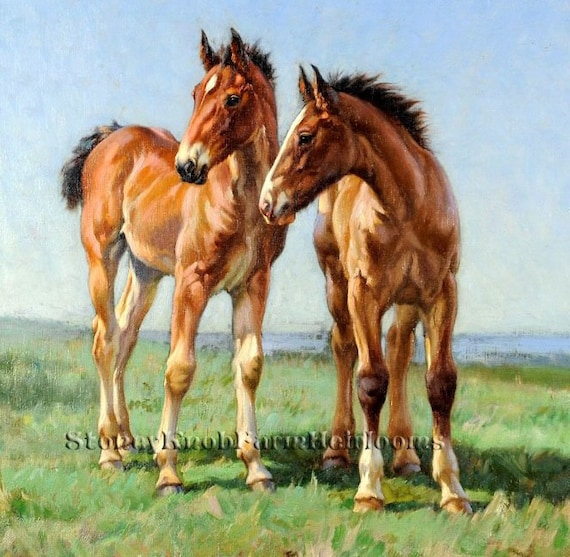 The Challenge ~ Horses Stallions ~ DIY Counted Cross Stitch Pattern