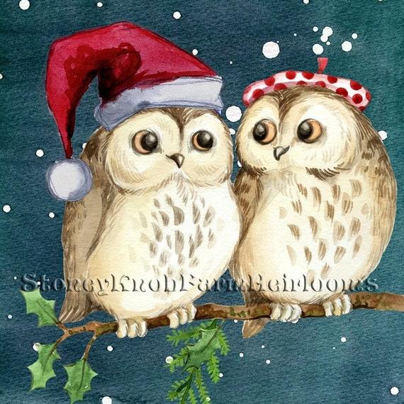 Christmas ~ Counted Cross Stitch Pattern Bird Horse Snow Winter