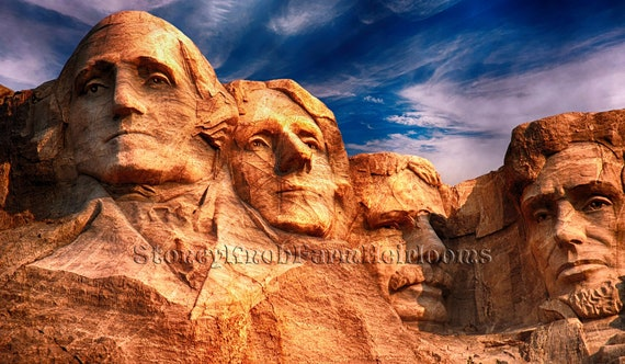 MT RUSHMORE~COUNTED CROSS STITCH PDF PATTERN ONLY