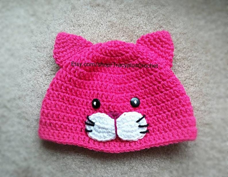 1f5e46c34ad Cat hat. Kitten hat. Crochet Cat hat. Crochet Kitten hat.