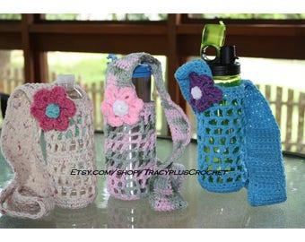 Bottle holder. Bottle carrier.Bottle sling.Crochet water bottle holder.Crochet water bottle sling.Water bottle carrier.