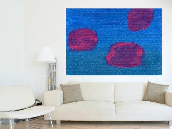 Fine Art Riesige Abstrakte Pflaume Lila Malerei Große Acryl | Etsy