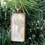 Map Christmas Ornament Custom Christmas Tree Decoration Custom Christmas Decor Map Xmas Decor Christmas Decoration Gifts for Couple