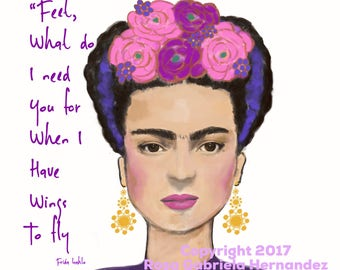 Frida Spanish Quote Etsy