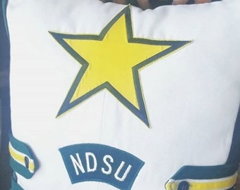 Star Upcycled NDSU Gold Star Marching Band Uniform Tote Bag - Limited Quantity