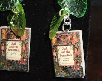 Jack & the Beanstalk Book Earrings - Great Gift for Book Lovers!
