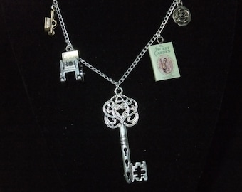 Secret Garden Book Necklace - Great Gift for Book Lovers!