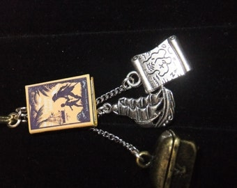 Treasure Island Book Keychain - Great Gift for Book Lovers!