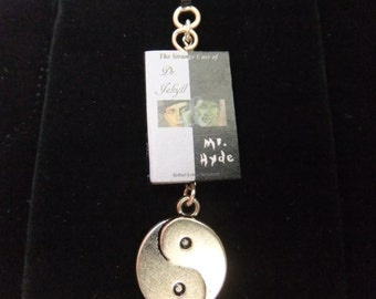 Dr. Jekyll & Mr. Hyde Book Zipper Pull - Great Gift for Book Lovers!
