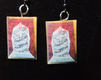 Faust Book Earrings - Great Gift for Book Lovers!