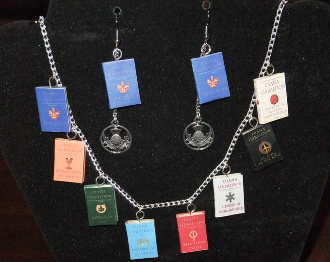 Featured listing image: Outlander Book Series Necklace - Great Gift for Book Lovers!