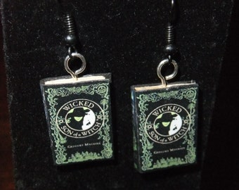 Wicked Book Earrings - Great Gift for Book Lovers!