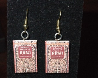 Rumi Book Earrings - Great Gift for Book Lovers!