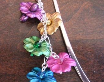 Bright Flowers Mini Bookmark - Great for Book Lovers!