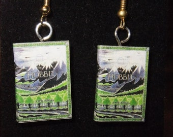 Hobbit Book Earrings - Great Gift for Book Lovers!