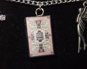 Bible Book Necklace - Great Gift for Book Lovers!