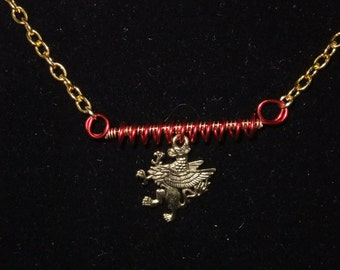 Red & Gold Gryffindor Necklace (G9) - Great Gift for Fans of the Books or Movies!