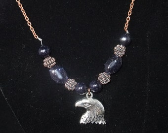 Ravenclaw Blue & Bronze Necklace (R1) - Great Gift for Fans of the Books or Movies!
