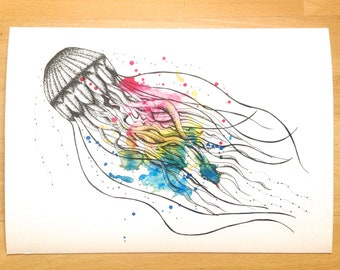 Jellyfish Original Print